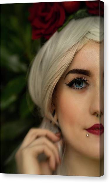 Jade Close Crop Canvas Print