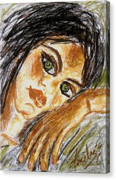 Jaded Canvas Print by Fareeha Khawaja