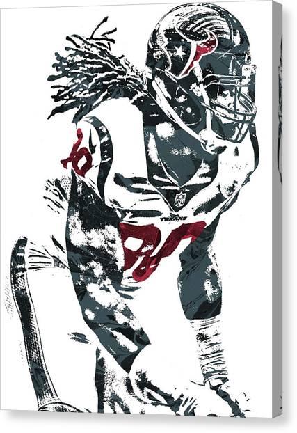 Houston Texans Canvas Print - Jadeveon Clowney Houston Texans Pixel Art by Joe Hamilton