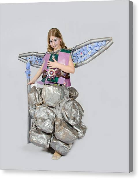 Jaeda In Techno Fairy Canvas Print