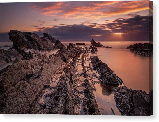 Jagged Rocks Canvas Print