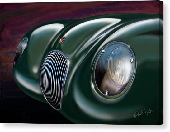 Jaguar C Type Canvas Print by David Kyte