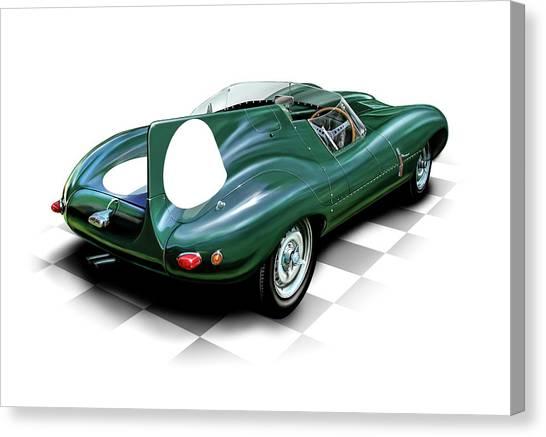 Jaguar D Type Canvas Print by David Kyte