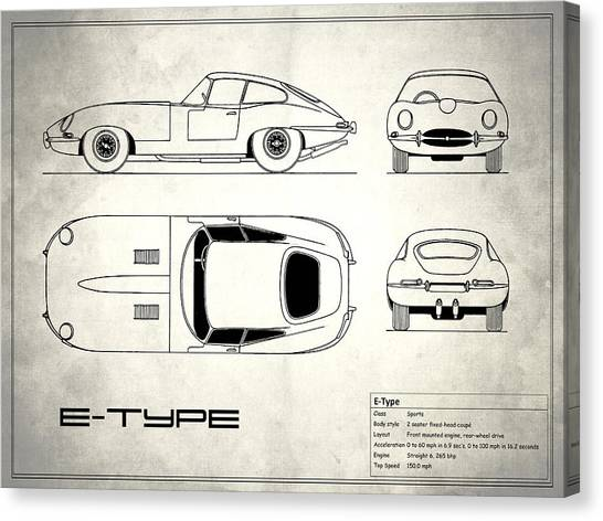 Car blueprint canvas prints page 4 of 25 fine art america car blueprint canvas print jaguar e type blueprint design by mark rogan malvernweather Gallery