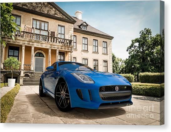 Jaguar F-type - Blue - Villa Canvas Print