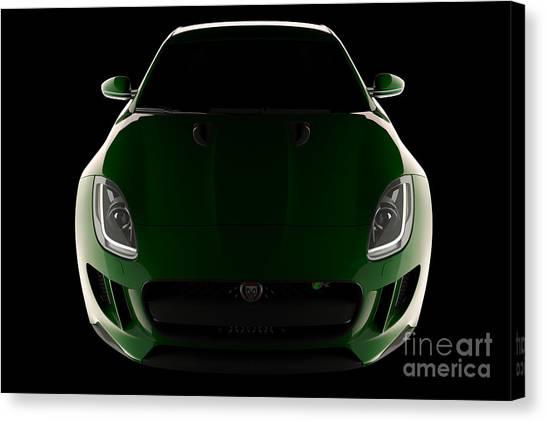 Jaguar F-type - Front View Canvas Print