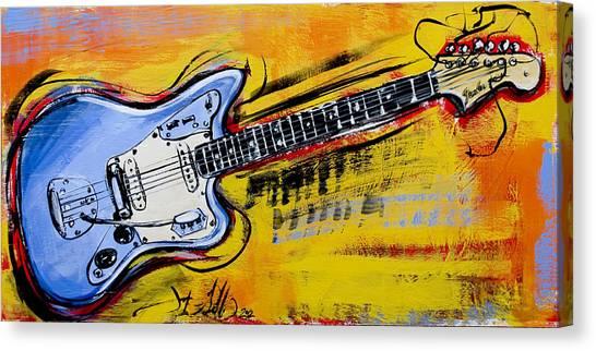 Jaguar Fender Guitar Canvas Print