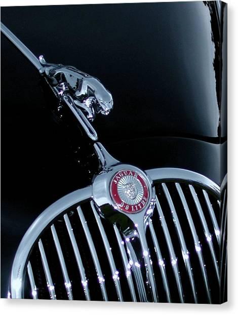 Jaguar Hood Ornament Canvas Print