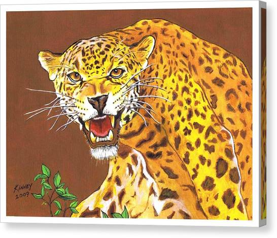 Jaguar Canvas Print by Jay Kinney