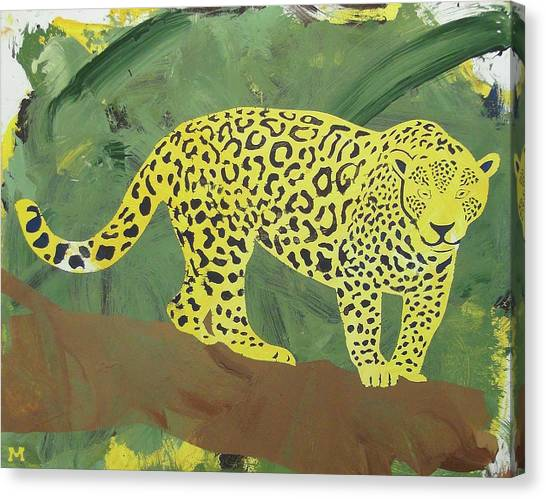 Canvas Print featuring the painting Jaguar by Candace Shrope