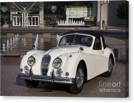 Jaguar Xk 140 Canvas Print