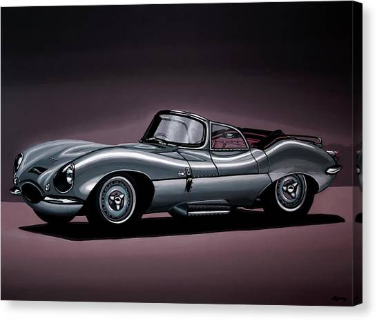 Swallow Canvas Print - Jaguar Xkss 1957 Painting by Paul Meijering