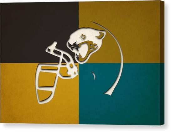 Jacksonville Jaguars Canvas Print - Jaguars Helmet Art by Joe Hamilton