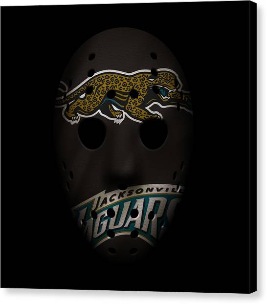 Jacksonville Jaguars Canvas Print - Jaguars War Mask 2 by Joe Hamilton