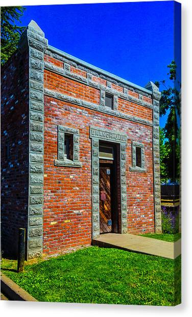 Detention Canvas Print - Jail Jamestown by Garry Gay