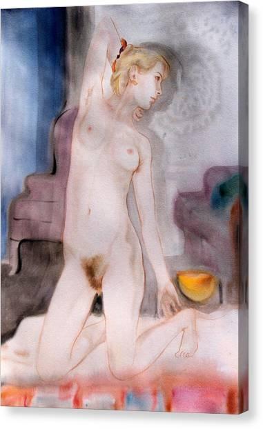 Jaime Yellow Bowl Canvas Print