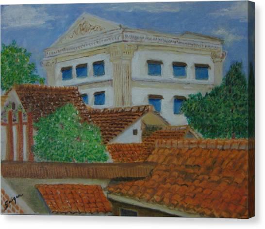 Jakarta Roofs Canvas Print by SAIGON De Manila