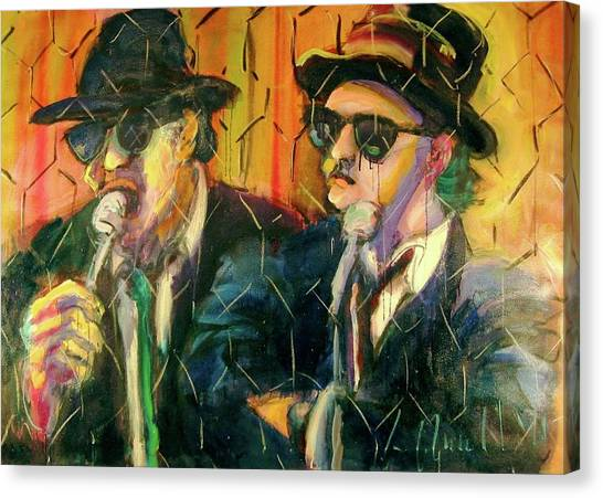 Jake And Elwood Canvas Print