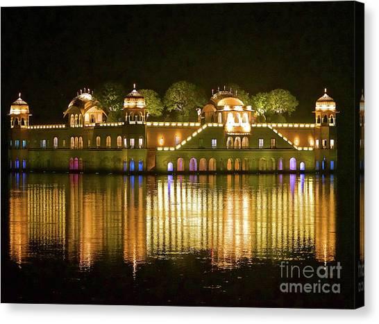 Jal Palace At Night Canvas Print