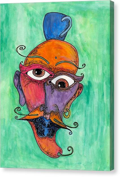 Jalepeno Face Canvas Print by Jessica Kauffman