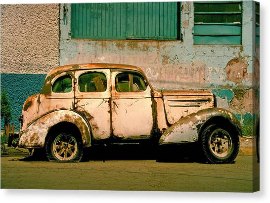 Cars Canvas Print - Jalopy by Skip Hunt