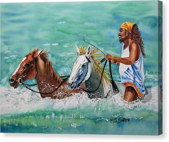 Jamaica Man Canvas Print