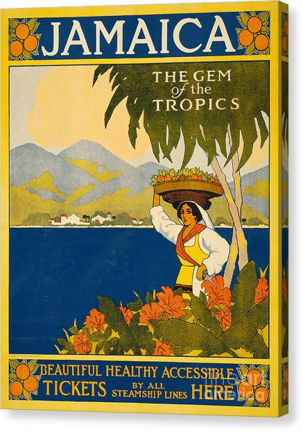 Jamaican Canvas Print - Jamaica  Vintage Travel Poster by American School