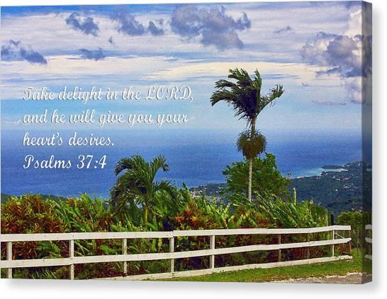 Jamaican Ocean View Ps. 37v4 Canvas Print