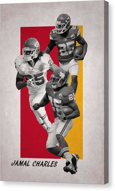 Kansas City Chiefs Canvas Print - Jamal Charles Kansas City Chiefs by Joe Hamilton