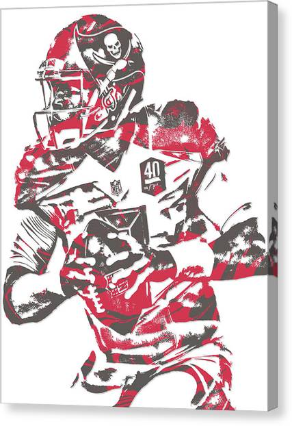 Tampa Bay Buccaneers Canvas Print - Jameis Winston Tampa Bay Buccaneers Pixel Art 5 by Joe Hamilton