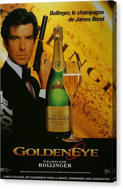 Goldeneye 007 Canvas Print - James Bond Ad 1995 by Andrew Fare