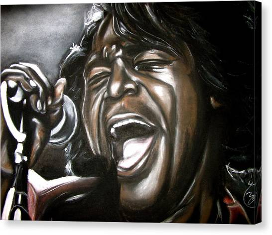James Brown Canvas Print by Zach Zwagil