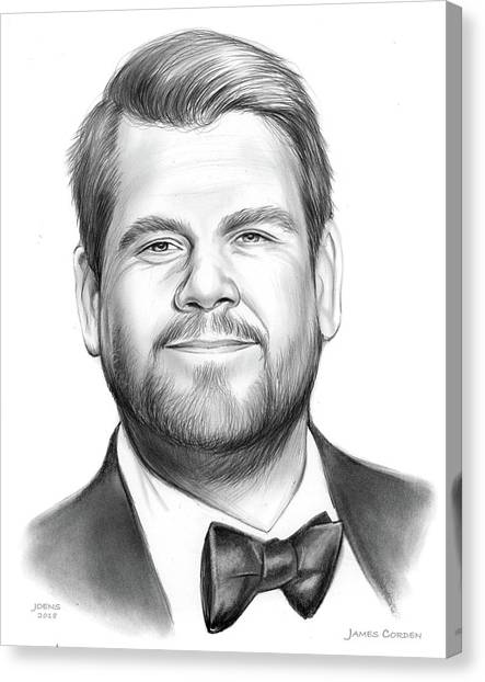 Happy Birthday Canvas Print - James Corden by Greg Joens