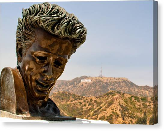 James Dean - Griffith Observatory Canvas Print