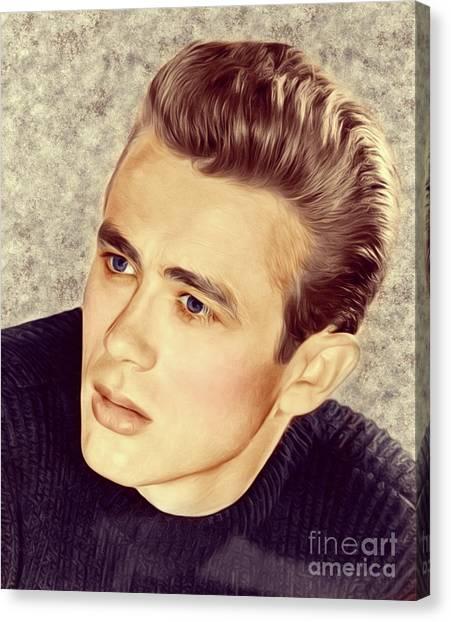 James Dean Canvas Print - James Dean, Actor by Mary Bassett