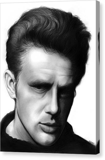 James Dean Canvas Print - James Dean by Greg Joens
