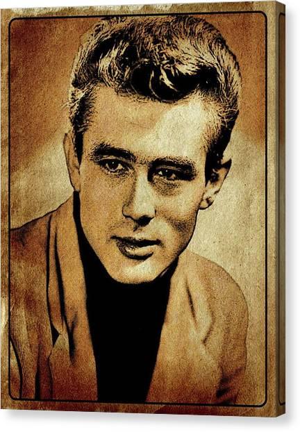 James Dean Canvas Print - James Dean Hollywood Legend by Esoterica Art Agency