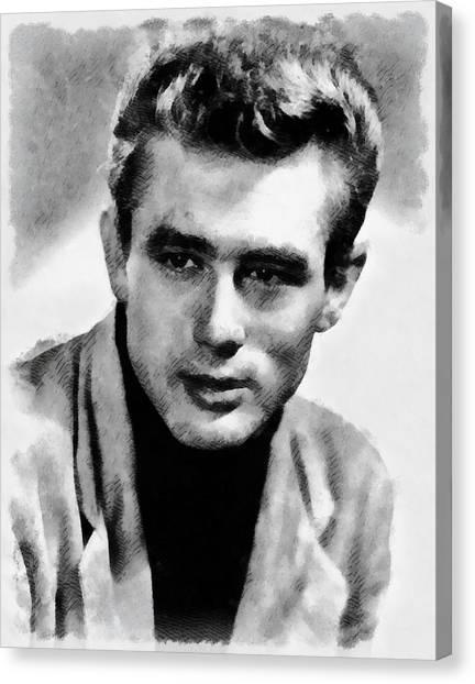 James Dean Canvas Print - James Dean Hollywood Legend by Frank Falcon