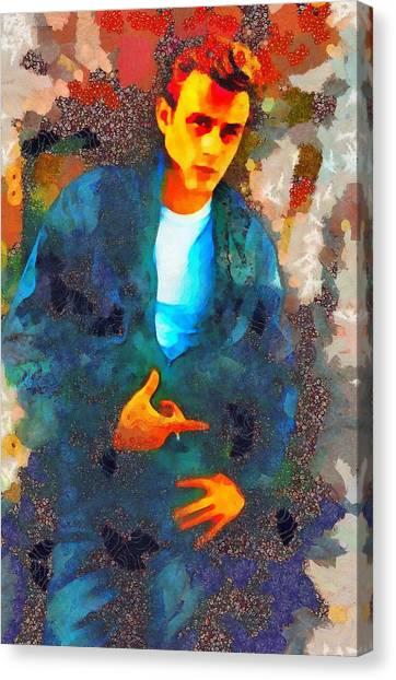 James Dean Canvas Print - James Dean Hollywood Legend by Mary Bassett