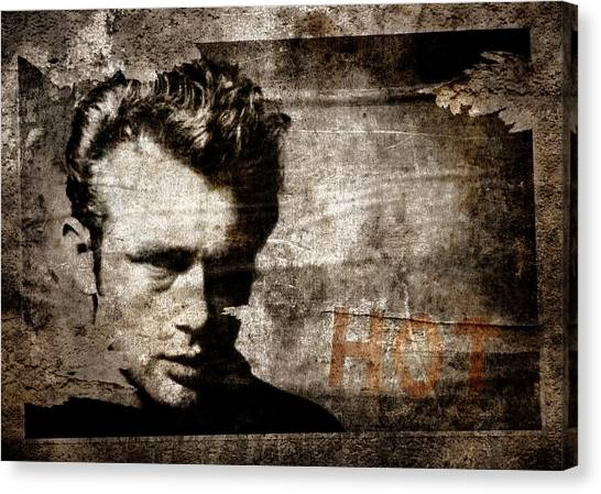 James Dean Canvas Print - James Dean Hot by Carol Leigh