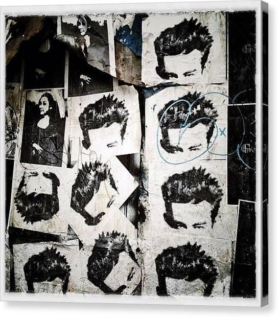 Instagramhub Canvas Print - James Dean by Natasha Marco
