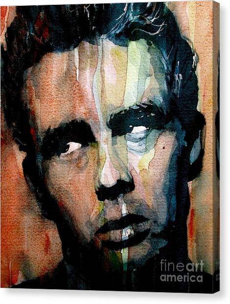 Celebrity Canvas Print - James Dean by Paul Lovering