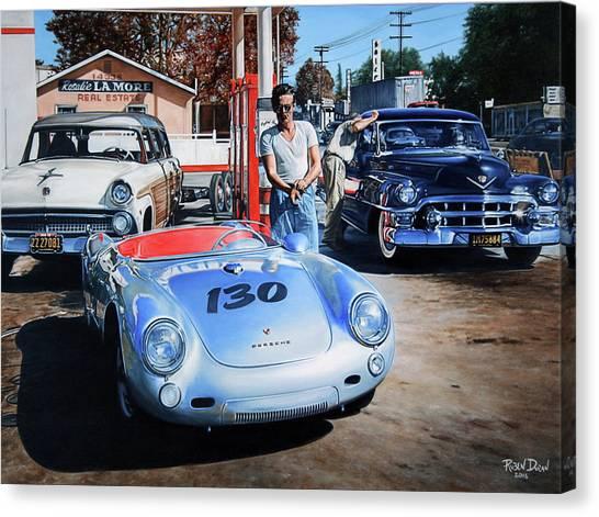 Porsche Canvas Print - James Dean by Ruben Duran