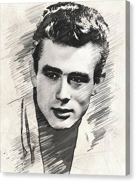 James Dean Canvas Print - James Dean, Vintage Actor by John Springfield
