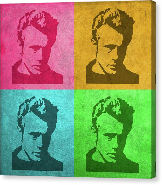 James Dean Canvas Print - James Dean Vintage Pop Art by Design Turnpike