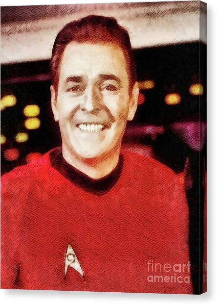 Scotty Canvas Print - James Doohan, Actor by John Springfield