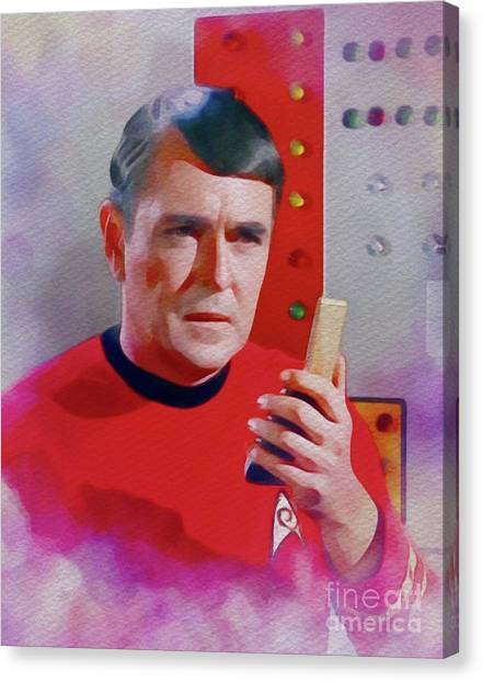 Scotty Canvas Print - James Doohan As Scotty by John Springfield