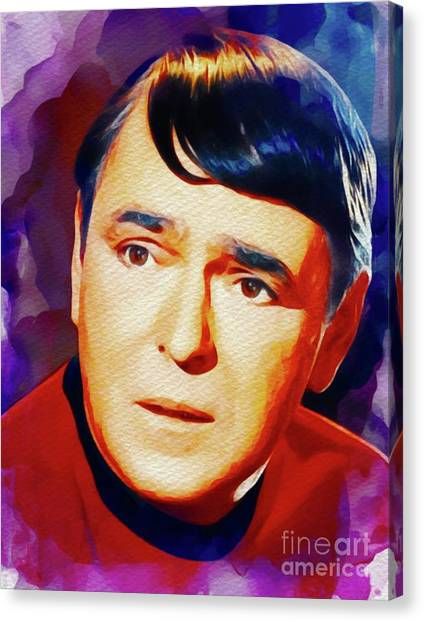 Scotty Canvas Print - James Doohan, Vintage Actor by John Springfield
