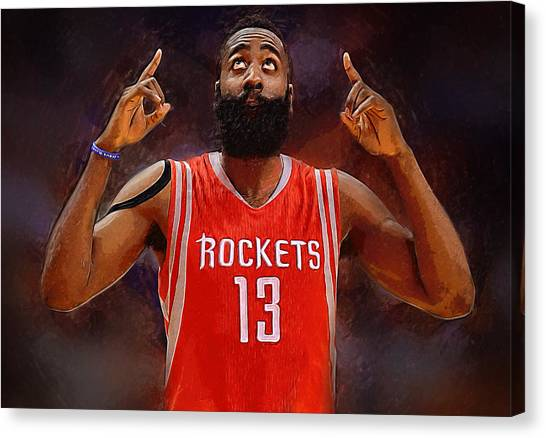 Dwight Howard Canvas Print - James Harden by Semih Yurdabak