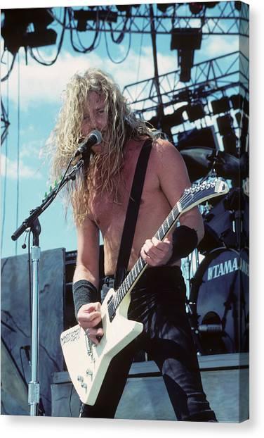 James Hetfield Of Metallica Canvas Print
